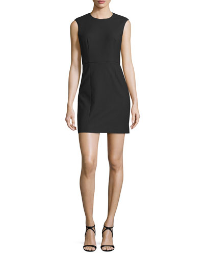 McKay Sleeveless Open-Back Mini Dress, Black