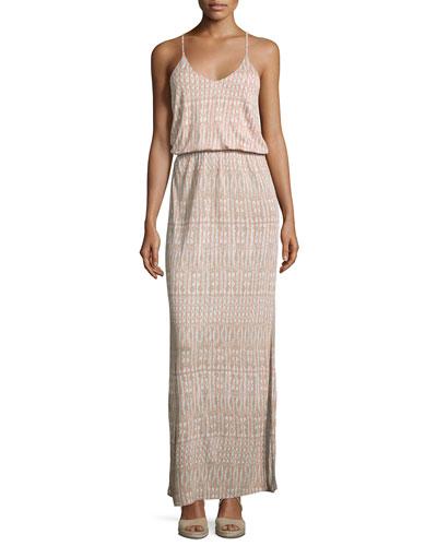 Nahia Printed Blouson Maxi Dress