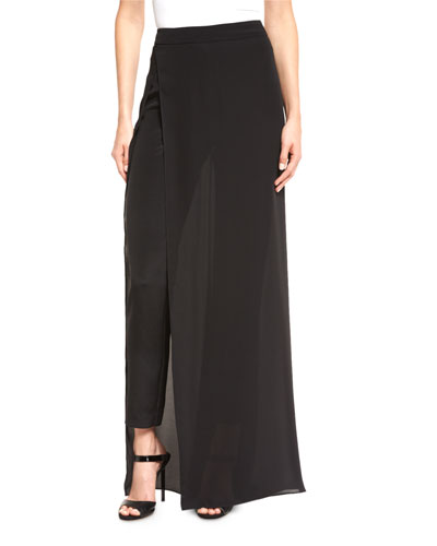 The Shia Skirted Pants, Black