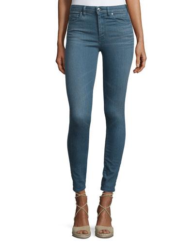 Wonder Cropped Skinny Jeans, Blue-Gray