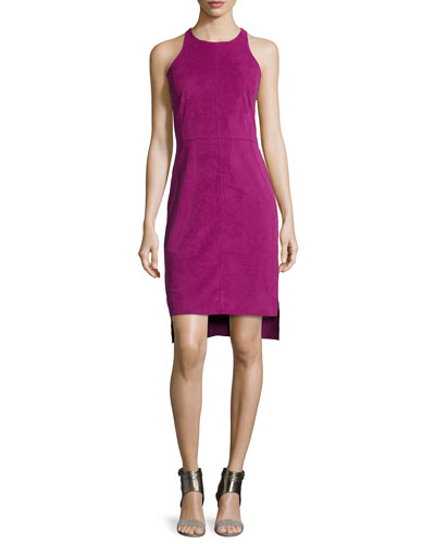 Sleeveless Cami Dress W/Split Hem, Magenta