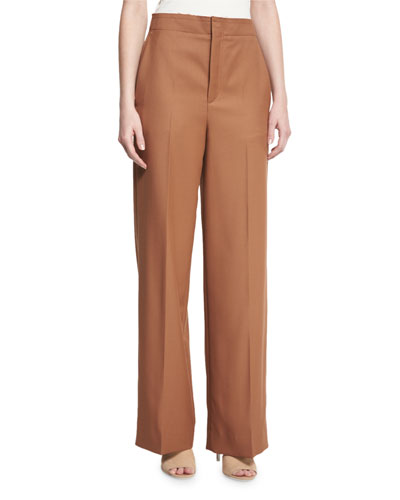 High-Rise Wool Twill Pants, Autumn