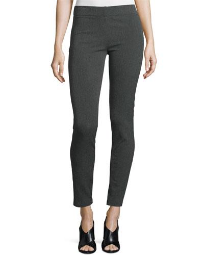 Herringbone Stretch Leggings, Dark Gray