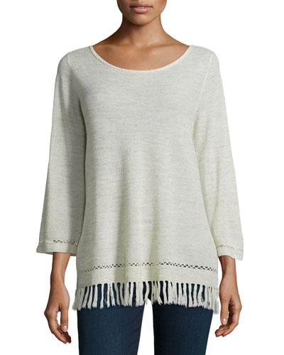 Annalie Fringe-Trim Sweater