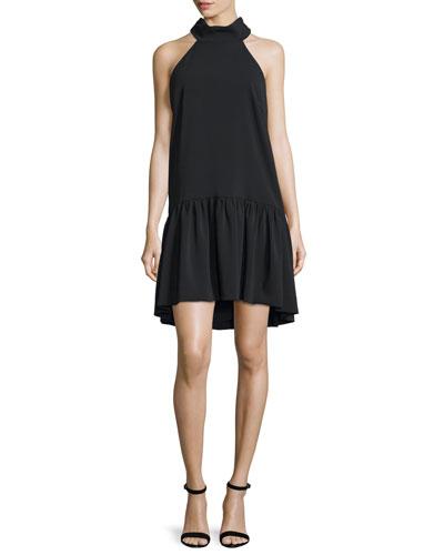 Katelyn Halter-Neck A-Line Dress, Black