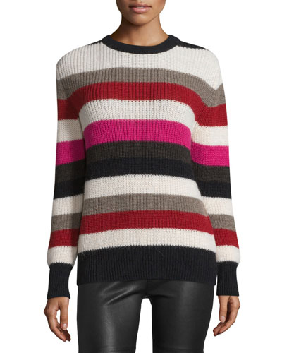Solal Striped Ribbed Sweater, Multicolor