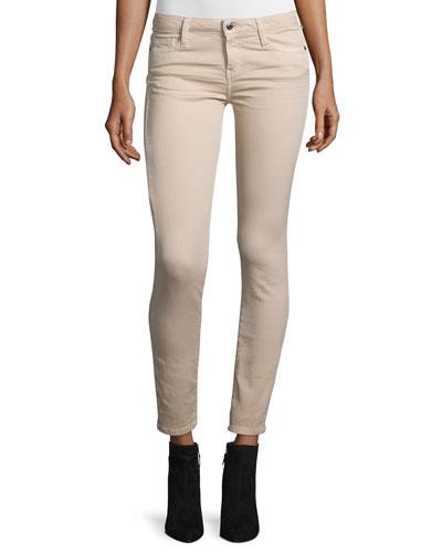 Jarodcla Stretch Denim Ankle Jeans, Nude
