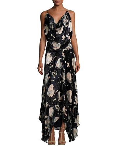 Solitaire Burnout Velvet Maxi Dress
