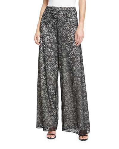 Athena Lace Super-Flared Pants