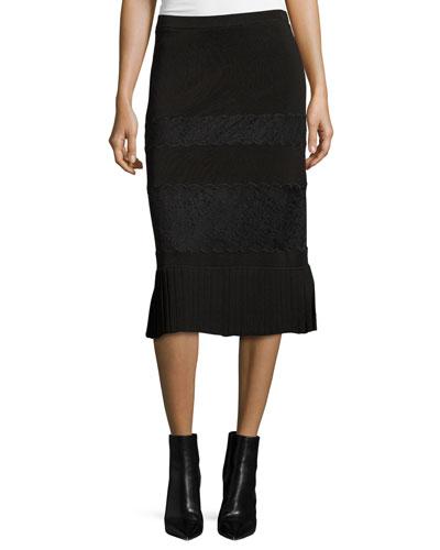 Rikki Paneled Lace Maxi Skirt