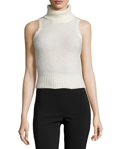 Elodie Sleeveless Turtleneck Sweater
