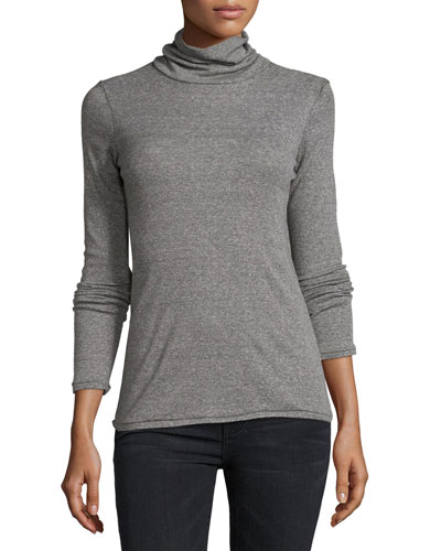 The Turtleneck Top, Heather Gray