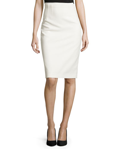 Beatrice Pencil Skirt, White