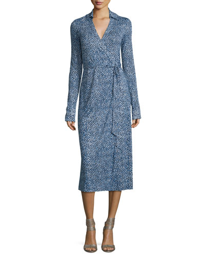 Cybil Printed Silk Jersey Wrap Dress