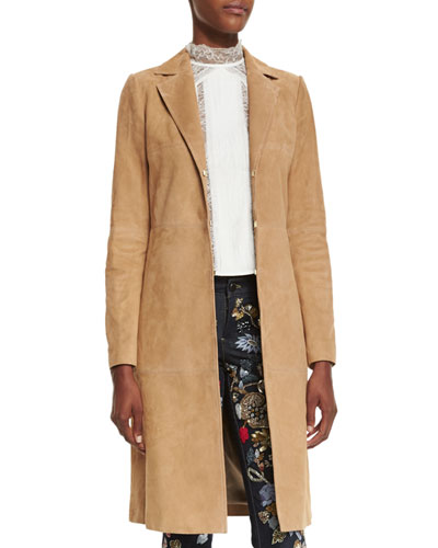 Logan Suede Mid-Length Coat