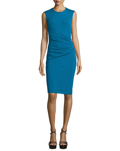 Glennie Wrap-Waist Sheath Dress