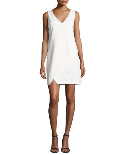 Jenn Sleeveless Shift Dress, Ivory