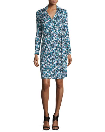 New Jeanne Printed Wrap Dress