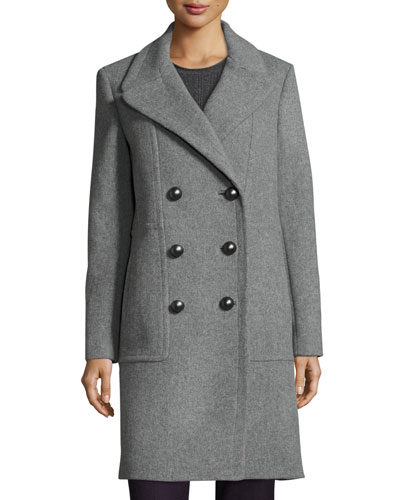 Shayla Double-Breasted Wool-Blend Coat