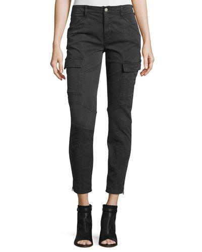 Houlihan Skinny Cargo Ankle Pants, Dark Gray