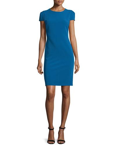 Hollis Lace-Back Short-Sleeve Sheath Dress