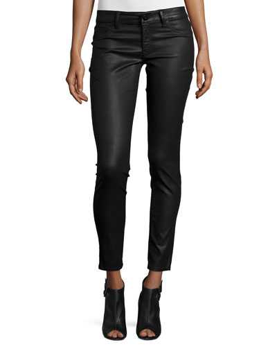 Emma Coated Power Legging Jeans, Char