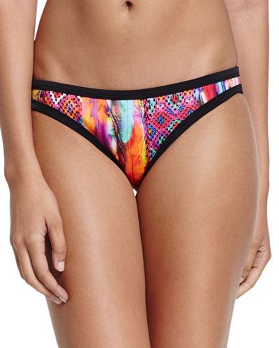 Scuba Printed Hipster Swim Bikini Bottom, Mexican Summer