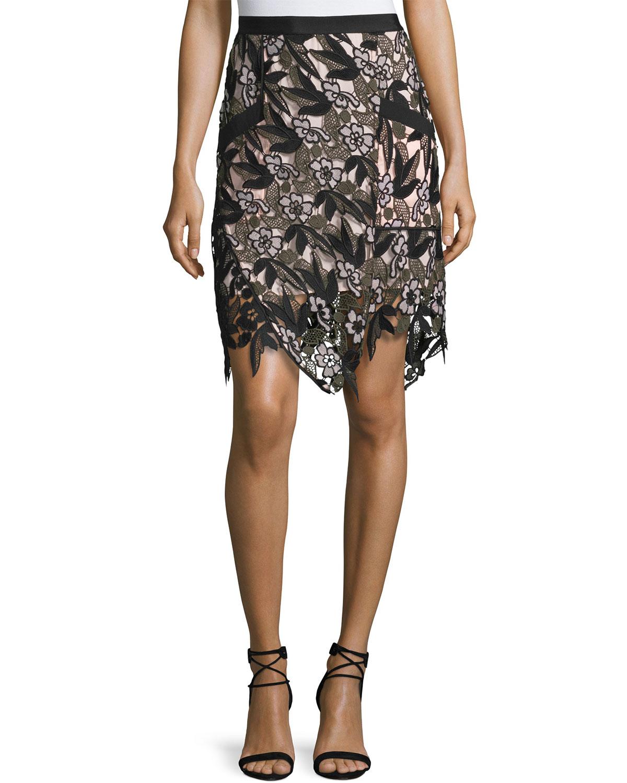 Nina Vine Guipure Lace Skirt