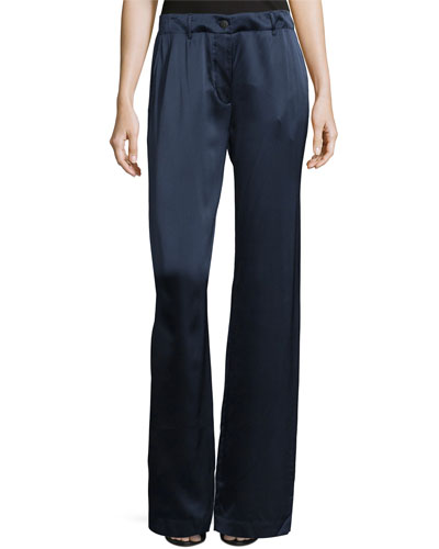 Gavin Wide-Leg Drawstring Pants, Royal