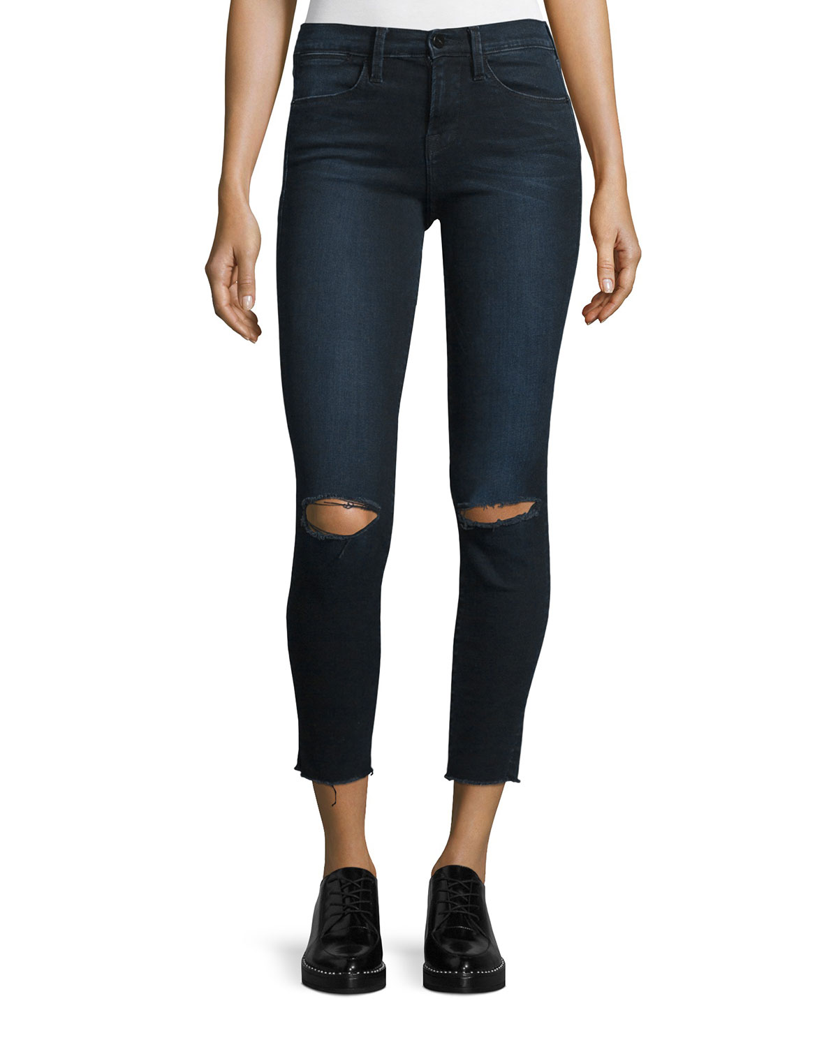Le High Ripped Skinny Jeans, Blue
