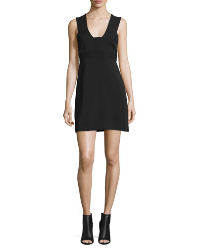 Carmela Ponte Mini Dress, Black