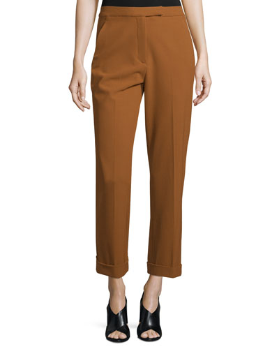 Benji Cropped High-Rise Pants, Amber