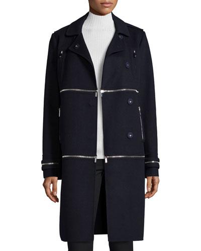 1, 2, 3 Asymmetric Convertible Coat, Royal Navy