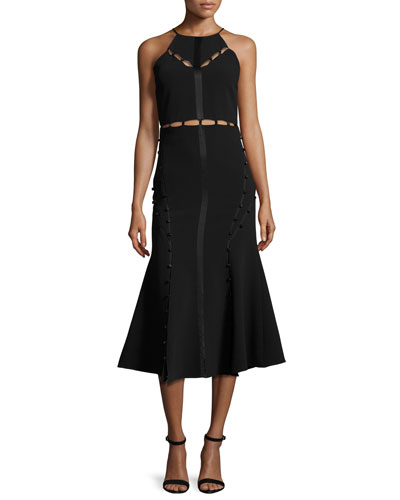 Shaik Cutout Sleeveless Midi Dress