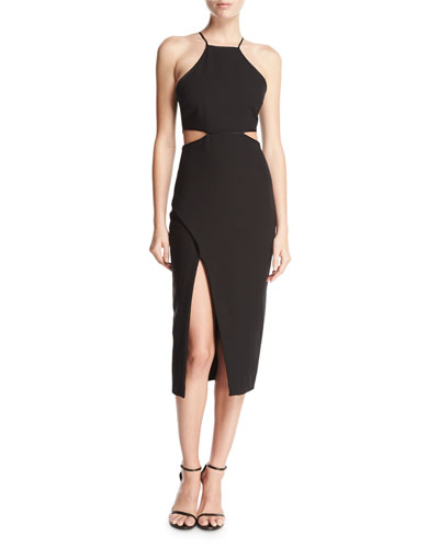 Yael Sleeveless Side-Cutout Cocktail Dress