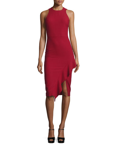 Piper Ruffle-Hem Cocktail Dress