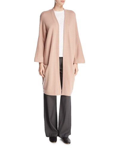 Blanket Cashmere Coat Cardigan, Rose Hip