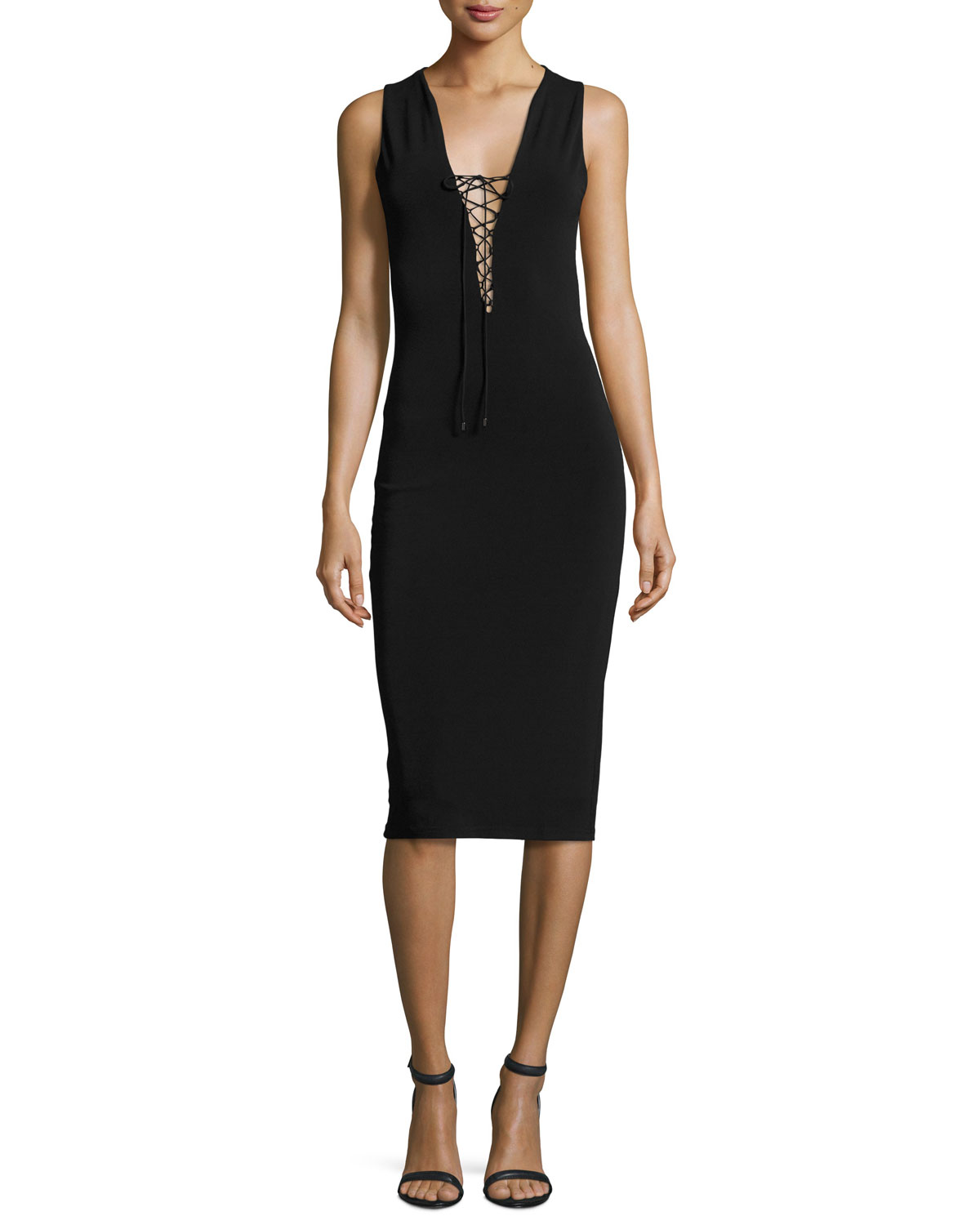 The Sheia Laced Cocktail Dress, Black