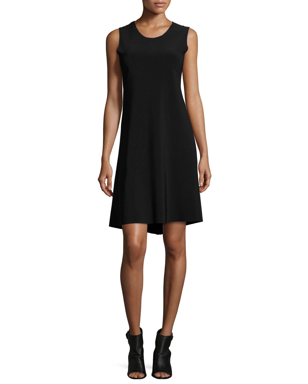 Solid Swing Dress, Black