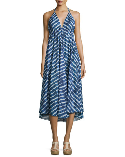 Ziggy Midi Dress, Tie-Dye Stripe