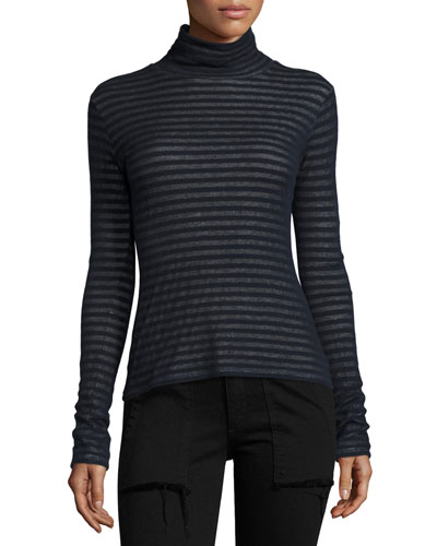 Keaton Striped Turtleneck Sweater