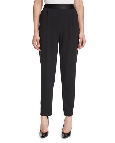 Jessie Single-Pleat Trousers, Black