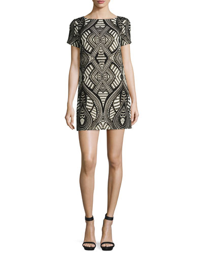 Mani Geometric-Print Shift Dress