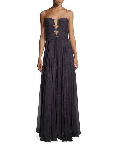 The Gala Printed Silk Maxi Dress, Ursula