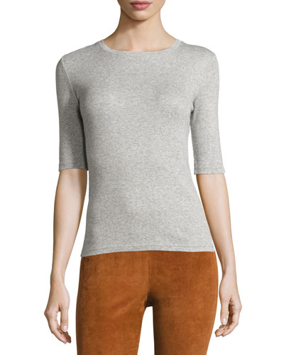Santea Forli Rib Top, Heather Gray