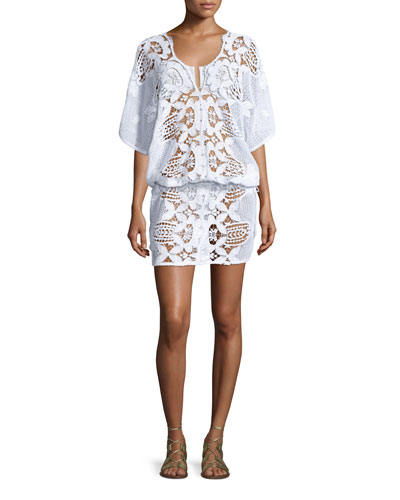 Katya Floral Lace Coverup Dress