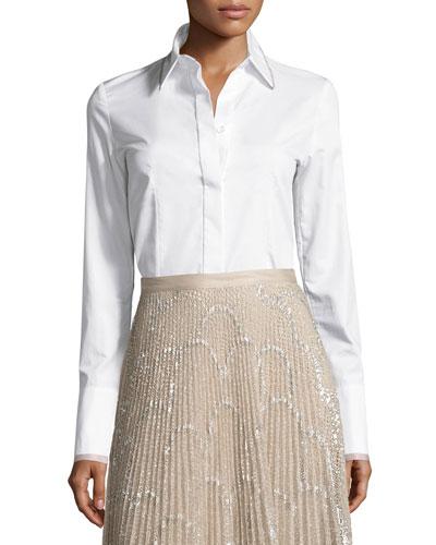 Matilda Classic Button-Down Shirt, White