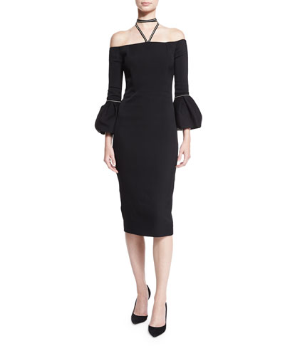 Amelie Halter Sheath Dress