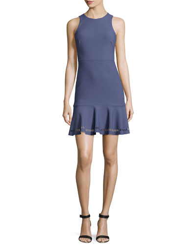Hadley Fit-and-Flare Ponte Dress, Indigo