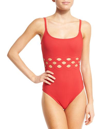 Celeste Round-Neck One-Piece Swimsuit